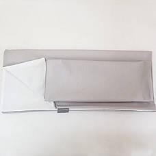 Комплект постельного белья в кроватку Маленькая соня Универсальный детский поплин серый арт.030052, фото 2