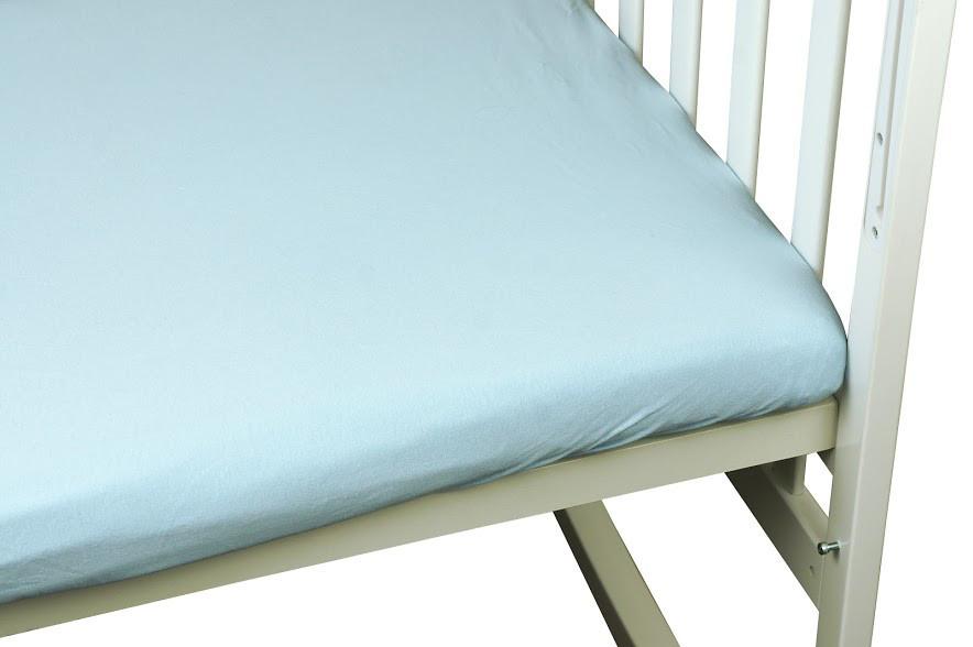Простынь Руно детская 60*120 см трикотаж на резинке голубая арт.918.38_Блакитний