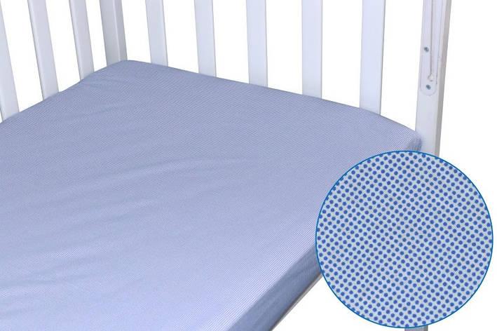 Простынь Руно детская 60*120 см на резинке синяя бязь арт.918.114_синій, фото 2