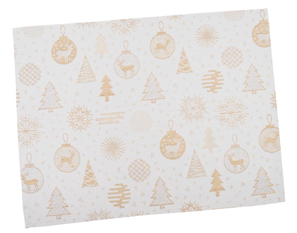 Салфетка-подкладка для кухни LiMaSo 34*44 см жаккардовая полиэстер новогодняя арт.FG02-EDEN014-34.34х44