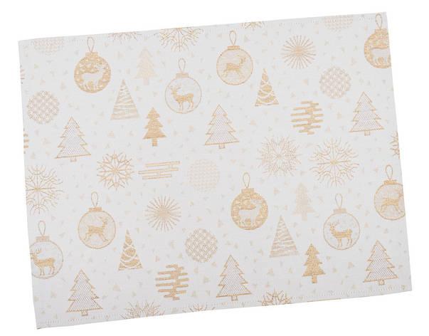 Салфетка-подкладка для кухни LiMaSo 34*44 см жаккардовая полиэстер новогодняя арт.FG02-EDEN014-34.34х44, фото 2