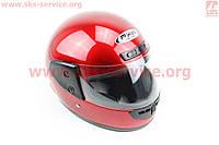 Шлем для мото скутер мопед закрытый HF-101 размер S- КРАСНЫЙ глянец (FXW)