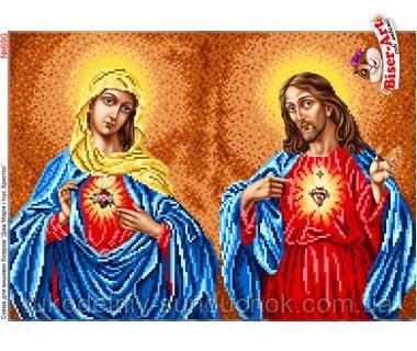 Схема для вишивки бісером Бисер-Арт Діва Марія і Ісус Христос (690)