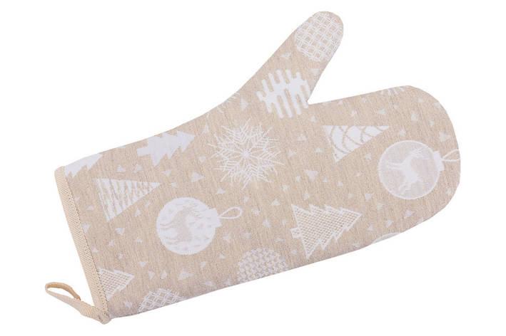 Прихватка-рукавица LiMaSo 17*30 см жаккардовая полиэстер новогодняя арт.FG02-EDEN014-RK.17х30, фото 2