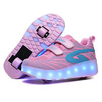 Кроссовки на роликах USB стиль Heelys на 2-х роликах. Премиум качество, весна - лето 2020 лучший подарок!