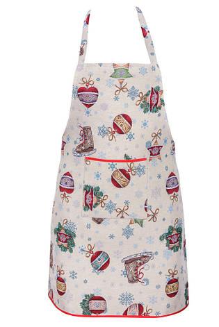 Фартук для кухни LiMaSo Зимние развлечения 60*75см гобеленовый новогодний арт.EDEN346-FR.60х75, фото 2