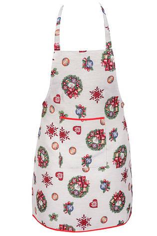 Фартук для кухни LiMaSo Игрушечный звездопад 60*75см гобеленовый новогодний арт.EDEN155-FR.60х75, фото 2