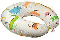 Подушка для кормления Руно Jungle 65*65 см сатин/силиконовые шарики арт.909Jungle