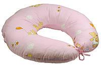 Подушка для кормления Руно 65*65 см бязь/силиконовые шарики розовая арт.909_Рожевий