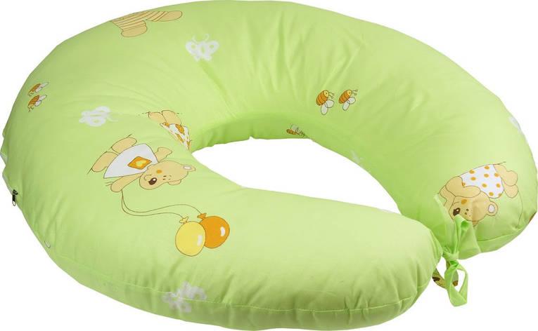 Подушка для кормления Руно 65*65 см бязь/силиконовые шарики салатовая арт.909_Салатовий, фото 2