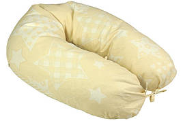 Подушка для кормления Руно Панда+ Beige star 30*175 см бязь/бамбуковое волокно арт.969БВУ_Beige star
