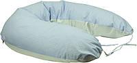 Подушка для кормления Руно Панда+ 30*175 см бязь/бамбуковое волокно голубая арт.969БВУ_блакитний