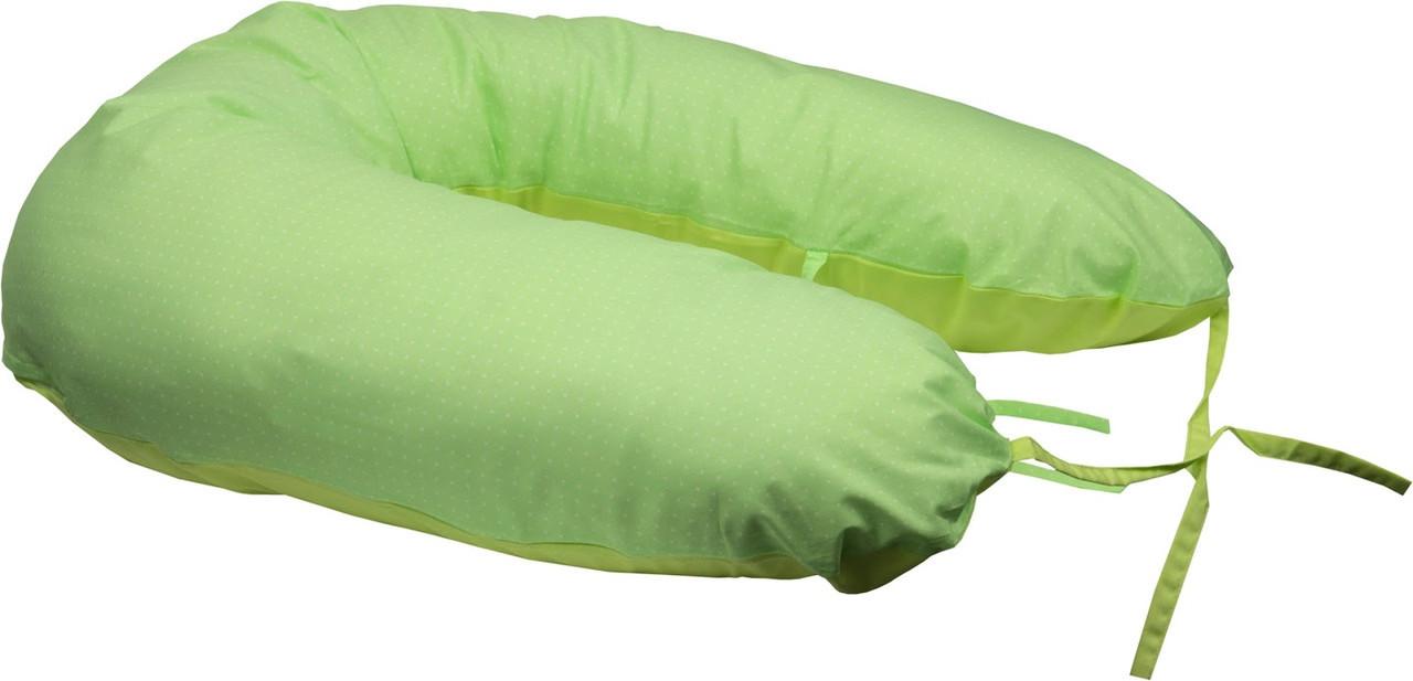 Подушка для кормления Руно Панда+ 30*175 см бязь/бамбуковое волокно салатовая арт.969БВУ_салатовий