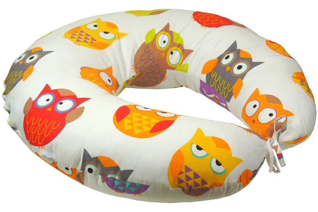 Подушка для кормления Руно Совы 65*65 см сатин/силиконовые шарики арт.909_Сови