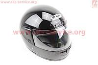 Шлем для мото скутер мопед закрытый HF-101 размер M- ЧЕРНЫЙ глянец (FXW)