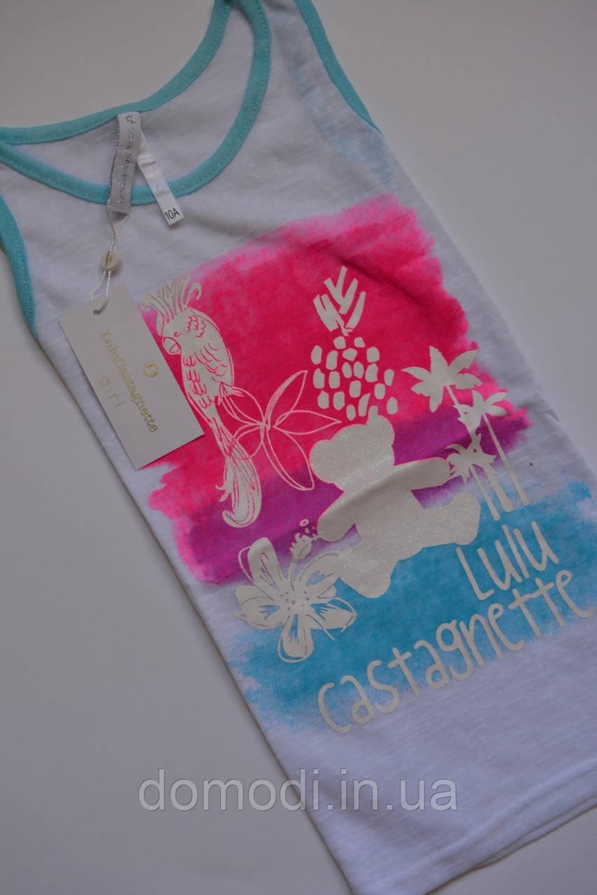 Яскрава біла майка-футболка lulu castagnette (Франція) 10 років.