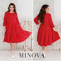 Платье женское разлетайка (4 цвета) ОМ/-826 - Красный, фото 1