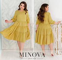 Сукня жіноча разлетайка (4 кольори) ОМ/-826 - Жовтий, фото 1
