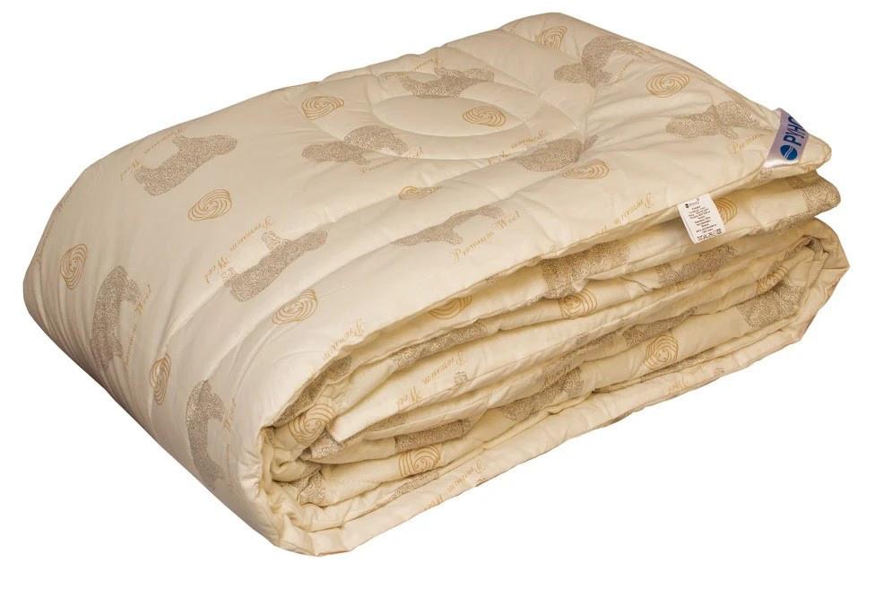 Одеяло Руно Комфорт+ Premium Wool полуторное 140*205 см бязь/овечья шерсть теплое арт.321.02ШК+У_Premium Wool