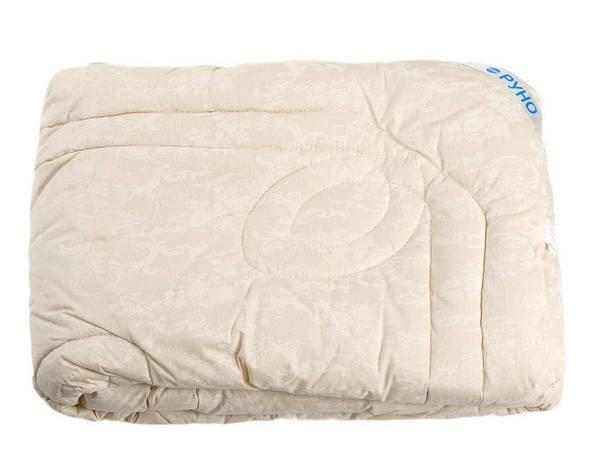 Одеяло Руно Евро 200*220 см бязь/овечья шерсть особо теплое молочное арт.322.02ШУ_молочний, фото 2