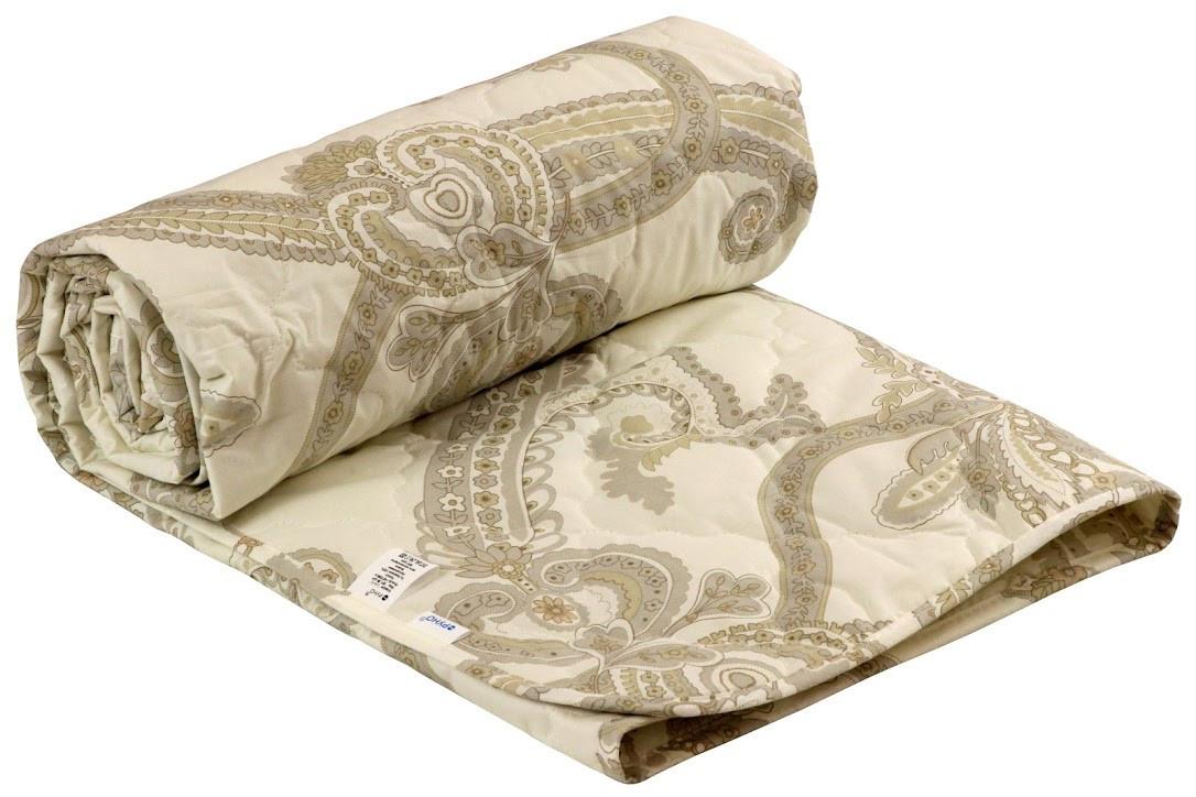 Одеяло Руно Нежность Luxury полуторное 140*205 см сатин/овечья шерсть легкое арт.321.29ШНУ_Luxury