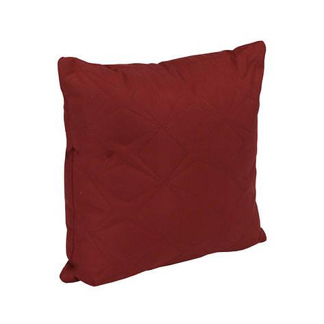 Подушка декоративная Руно Звезда 40*40 см микрофибра/силиконовые шарики бордовая арт.311.52_бордовий зірка, фото 2