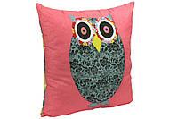Подушка декоративная Руно Owl Grey 50*50 см сатин/силиконовые шарики арт.306_Owl Grey