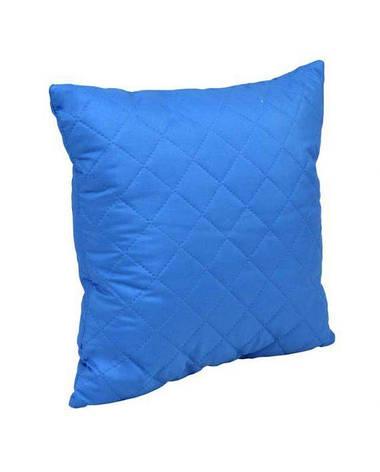 Подушка декоративная Руно Ромб 40*40 см микрофибра/силиконовые шарики синяя арт.311.52_синій ромб, фото 2