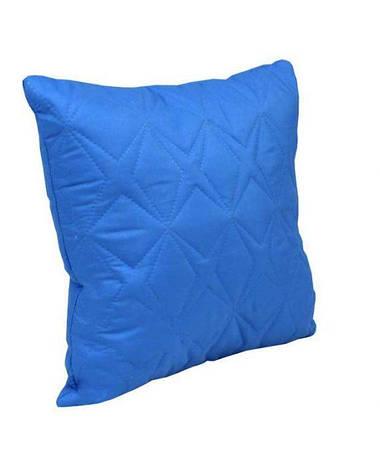 Подушка декоративная Руно Звезда 40*40 см микрофибра/силиконовые шарики синяя арт.311.52_синій зірка, фото 2