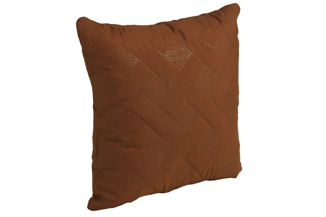 Подушка декоративная Руно Лилия 40*40 см микрофибра/силиконовые шарики шоколадная арт.311.52_шоколадний лілія