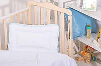 Подушка для новорожденных Ideia Baby Сатин 40*60 см сатин/антиаллергенное волокно арт.8-09618