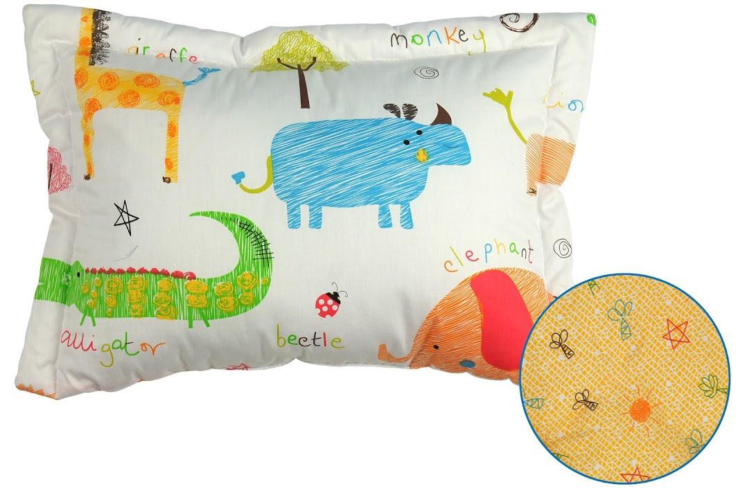 Подушка детская Руно Jungle 40*60 см сатин/силиконовые шарики арт.309.137Jungle