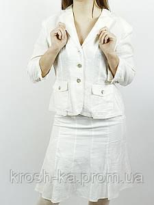 Костюм женский лён белый(38-40)р Nysense Франция 8970