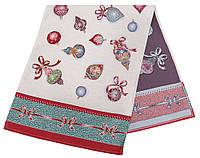 Скатерть-дорожка LiMaSo Елочные игрушки 37*100 см гобеленовая новогодняя арт.RUNNER336V-37.37х100