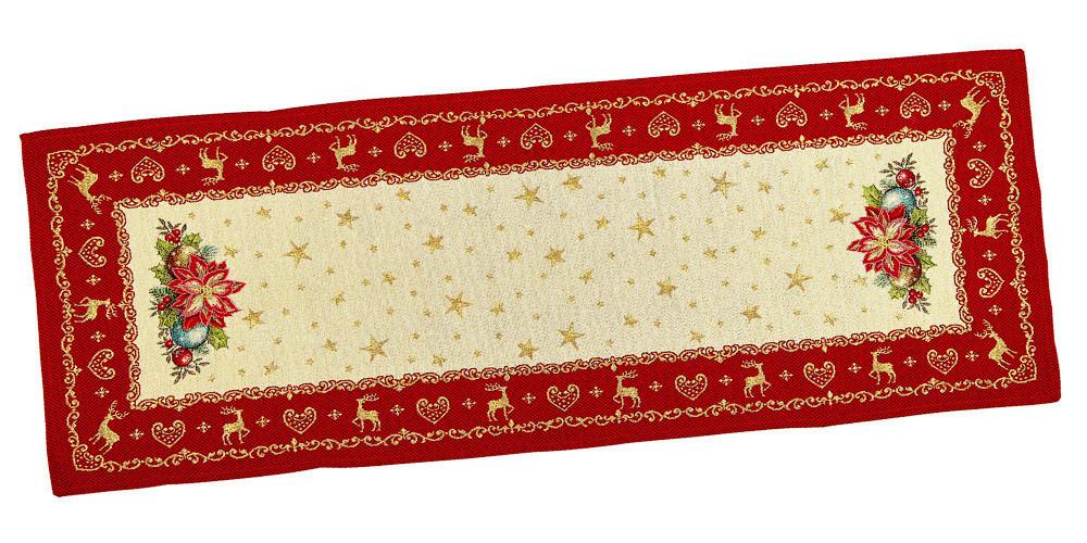 Скатертина-доріжка LiMaSo Новорічна фантазія гобеленова новорічна 45*140см арт.RUNNER488-45.45х140