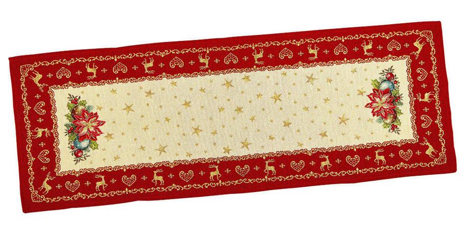 Скатертина-доріжка LiMaSo Новорічна фантазія гобеленова новорічна 45*140см арт.RUNNER488-45.45х140, фото 2