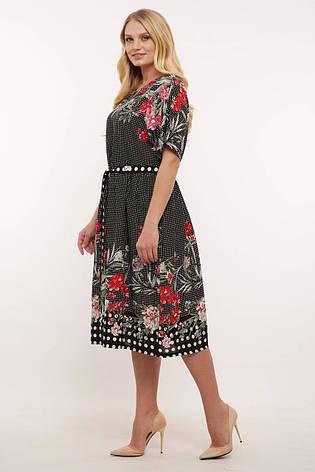 Платье свободного покроя для полных женщин, фото 2