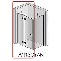 Душевые двери San Swiss AN13G12000607 Annea BlackLine, открывание левое, стекло прозрачное, профиль черный мат., фото 2