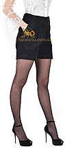 Модні молодіжні шортики з вельвету чорного кольору