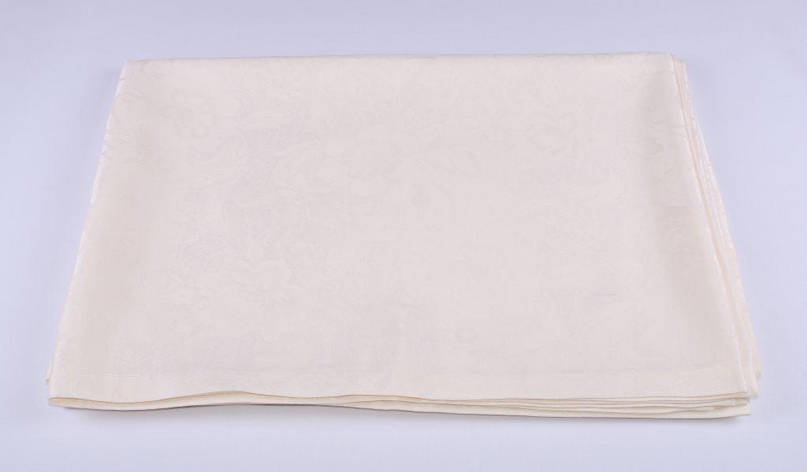 Скатерть LiMaSo 150*150 см полиэстер водоотталкивающая кремовая арт.SKC04KM.150х150, фото 2