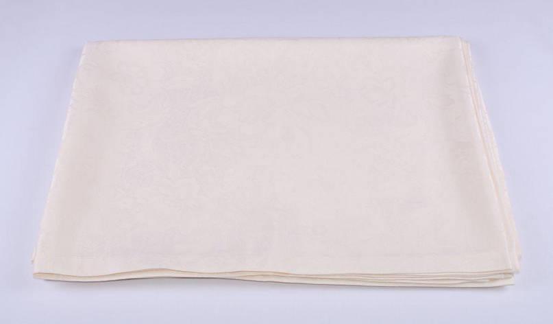 Скатерть LiMaSo 150*240 см полиэстер водоотталкивающая кремовая арт.SKC04KM.150х240, фото 2