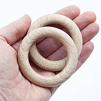 Деревянные кольца 60 мм для слингобус и грызунков, бук, толщина 11 мм, поштучно