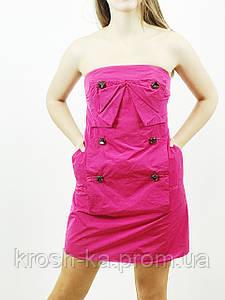 Платье женское бьюсти малиновое(38)р Evona Франция 68434