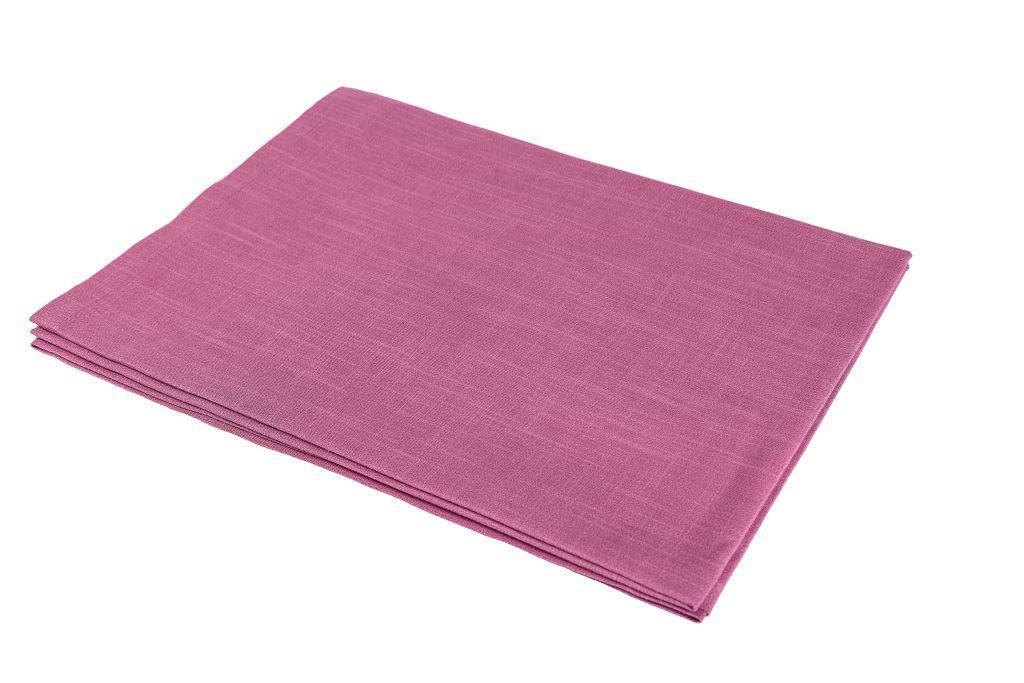 Скатертина LiMaSo бавовняна коричнево-рожева 135*140см арт.SKTI06.135х140