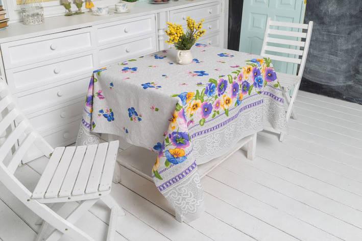 Скатерть Руно Цветы 150*150 см хлопковая арт.231.114_Квіти, фото 2