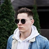 Стильные мужские солнцезащитные очки летние круглые