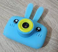 Детский цифровой фотоаппарат Smart Kids Camera 3 серия, с ушками синий