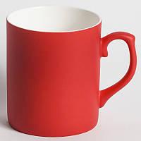 Чашка хамелеон фарфор ПОЛУМАТОВЫЙ (красный)