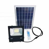Светодиодный прожектор 40W на солнечной панели с пультом