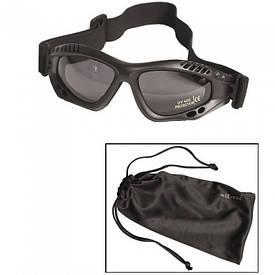 Очки маска Mil-Tec Commando Goggles Air Pro Smoke черные